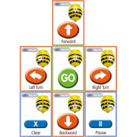 TTS A5 Bee-Bot Giant Sequence Cards. Set of 49 cards. Model: ITSCARD