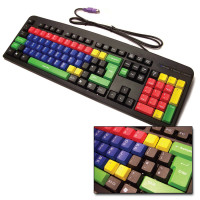 Multicoloured Lowercase Computer Keyboard. Product Code: I-MULTIK