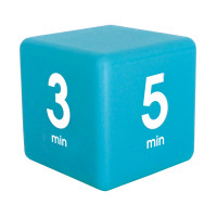 Magic  Timer  Cube 1-3-5-7 Minute Preset Timer- Blue  (DF-35)
