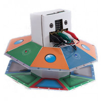 "Cardboard to Code Robot ""UFO"".  Best kits to start teaching coding. Includes BBC Micro:bit"