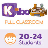 KIBO Full Classroom Pack, screen-free robot kit for 20-24 kids. 4-7 years old. 21 Blocks Kit (advance plus level)