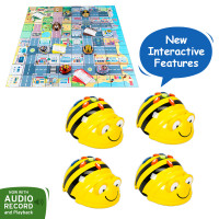 Bundle 4 Bee-Bot Floor Robot, 4 maps world bundle with 4 activity tins