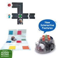 Blue-Bot Floor Robot, Modular Road and Transparent Pocket Mat Bundle