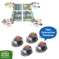 Bundle 4 Blue-Bot Floor Robot, 4 maps world bundle and 4 activity tins