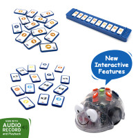 Blue-bot Tactile Pack: Blue-bot  Robot, Tactile Reader Set and  tactile cards extension pack