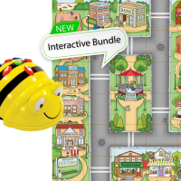 Bundle 6 Bee-Bot Floor Robots and 6 Community Mats