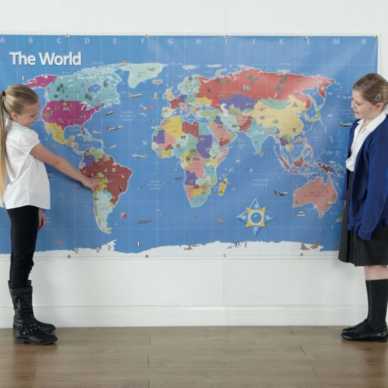 Bee-Bot World  Large Map 210 x 120cm (Indoor). Model GE00466