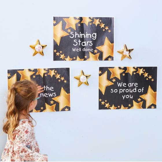 Recordable Talking Metallic Gold Stars 6pk. Product Code: EY07353