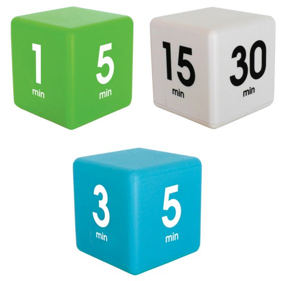 Bundle Magic  Timer Cubes White, Green and Blue. By Datexx