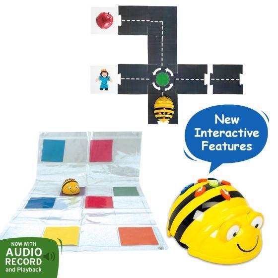 Bundle Bee-Bot Floor Robot, Modular Road and Transparent Pocket Mat