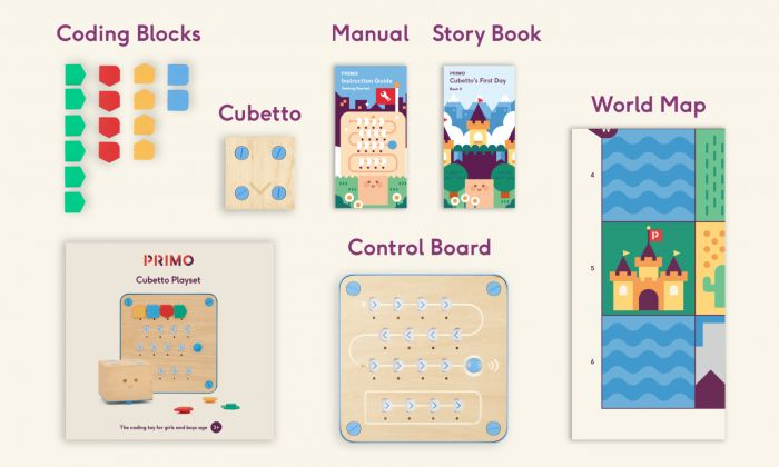 Cubetto Educational Coding Robot.  Screen-free coding for early years