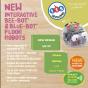 Bundle 6 Blue-Bot Bluetooth Programmable Robots and 6 3D Community Construction Kits