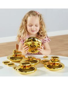Mirrored Stacking Pebbles Gold 20pk. Product Code: EY06518