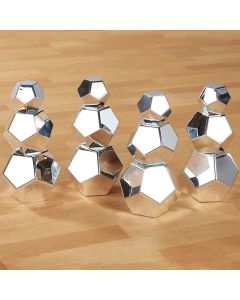 Marvellous Metallics Silver Boulder Blocks 12pk. Product Code: EY06069