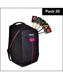 hey!U – 25 Units Pack with free Backpack and one year software subscription