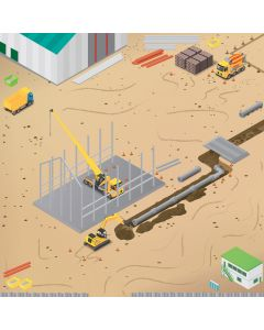 Rugged Robot Construction Site Mat. Product Code: 708-IT10239