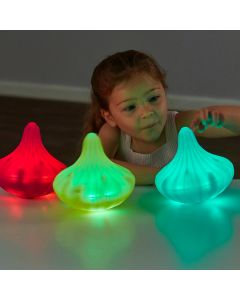 Light Up Twist and Turn Spinning Tops. Product Code: 708-EY10972
