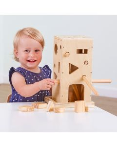 Wooden Posting Activity Tower. Product Code: 708-EY10453