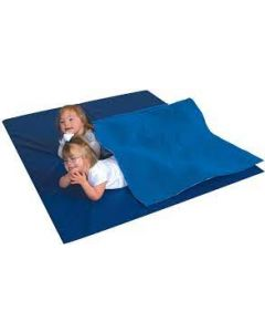 Abilitations Fleece Weighted Blanket, Medium, 8 Pounds, Blue