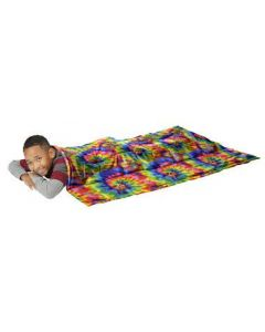 Abilitations Fleece Weighted Blanket, Medium, 8 Pounds, Multi Color