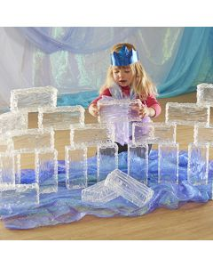 Glacier Effect Clear Plastic Ice Bricks