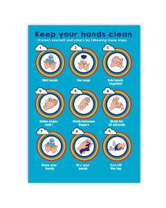 TTS Group UK Outdoor Hand Washing Display Board, Product Code: PS10108