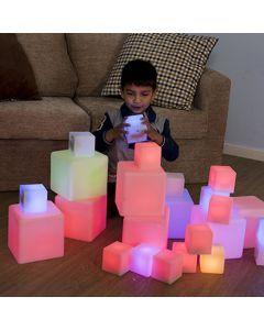 Sensory ICT Glow Construction Blocks Cubes