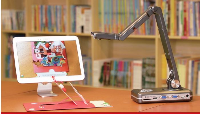 JOYUSING V500-W WIRELESS Document Camera. WIFI & HDMI & USB & VGA Connectivity