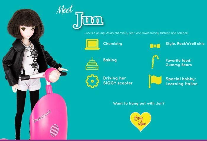 Jun, a young Asian Chemistry Star from Smartgurlz