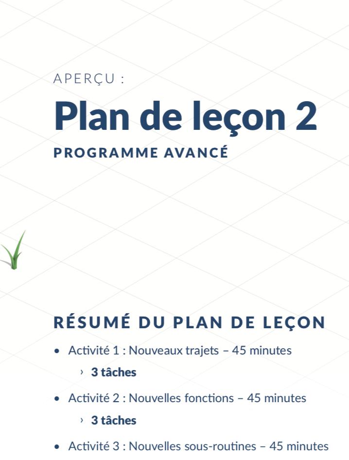 Resume Plan de Leçon Kubo Francais